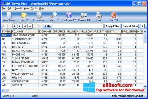 Skærmbillede DBF Viewer Windows 8