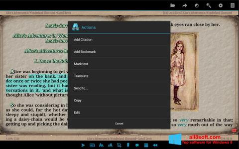 Skærmbillede AlReader Windows 8