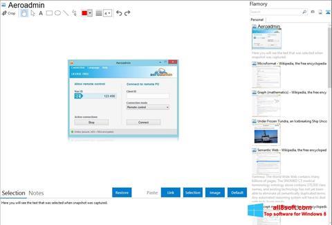Skærmbillede AeroAdmin Windows 8