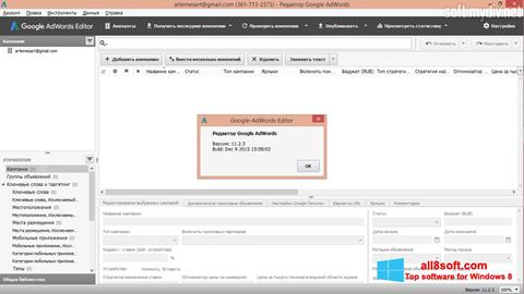 Skærmbillede AdWords Editor Windows 8